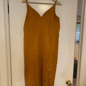 Express Mustard Gold Evening Dress